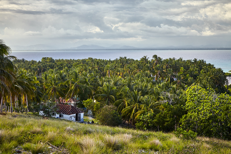 Haitian house on the hillside