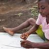The fishermen still use wooden splinters as needles for sailmaking.