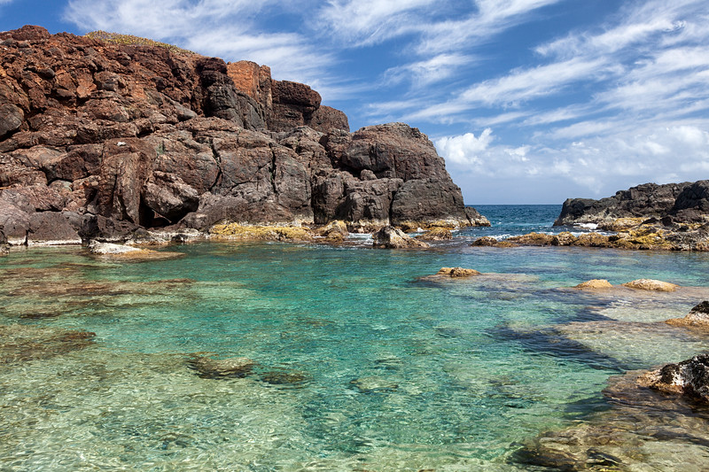 """One of the pools known as """"the jacuzzis"""" on the north side of Culebrita"""