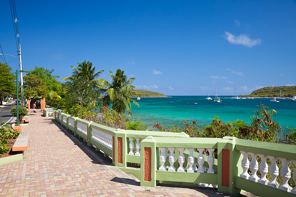The boardwalk in Esperanza, Vieques
