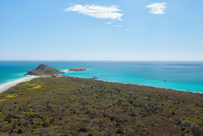 The lookout from the lighthouse on Isla Caja de Muertos.  I had the entire island to myself but it is usually packed on the weekends.