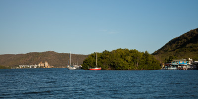 The well-protected anchorage in the mangroves of Ensenada (Guanica)