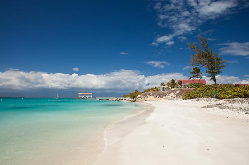 Playa Pelicanos on Isla Caja de Muertos Nature Reserve.  The ferry dock has service from Ponce.