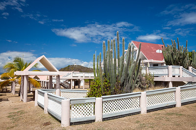 The museum and gazebo complex for visitors on Isla Caja de Muertos Nature Reserve.