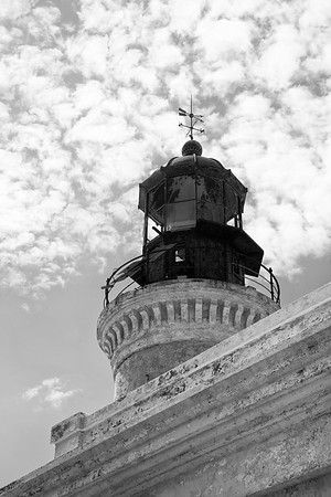 The old lighthouse on Isla Caja de Muertos was built by the Spanish in 1877 and is now maintained by the U.S. Coast Guard.