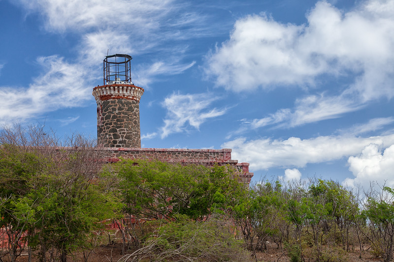 The Culebrita Lighthouse, now just a bulb powered by solar panels.