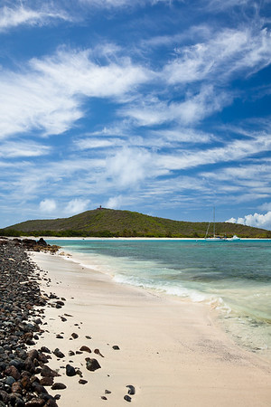 Playa Tortuga, Culebrita.  Nesting site for a few different species of sea turtles.