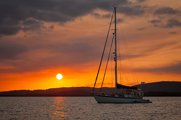 Sunset at the anchorage in La Parguera
