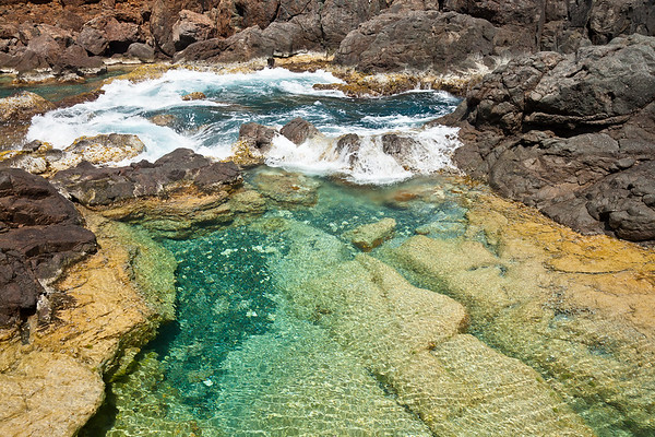 """This tide pool, part of """"the jacuzzis"""" was my favorite for its clear, calm water and resemblance to a man-made pool"""