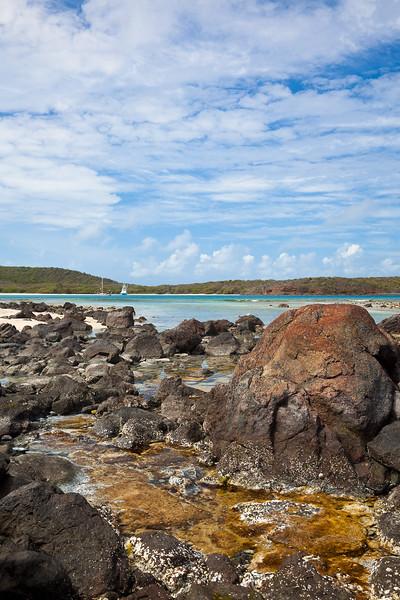 Northern anchorage at Culebrita