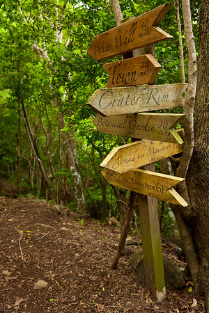 The trail system in St Eustatius is well-marked