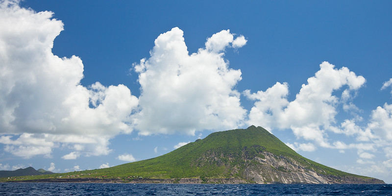 Statia was two separate islands until the Mount Mazinga volcano explosion joined them