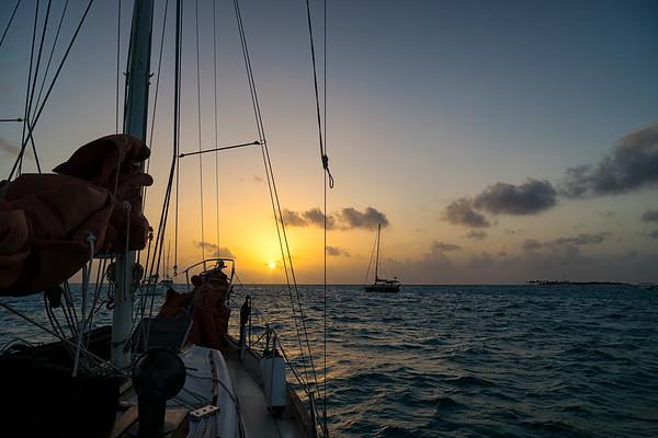 Sunrise in the Tobago Cays