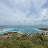View of Clifton from Fort Hill, with Palm Island, Petit Martinique, Petit St Vincent, and Carriacou visible
