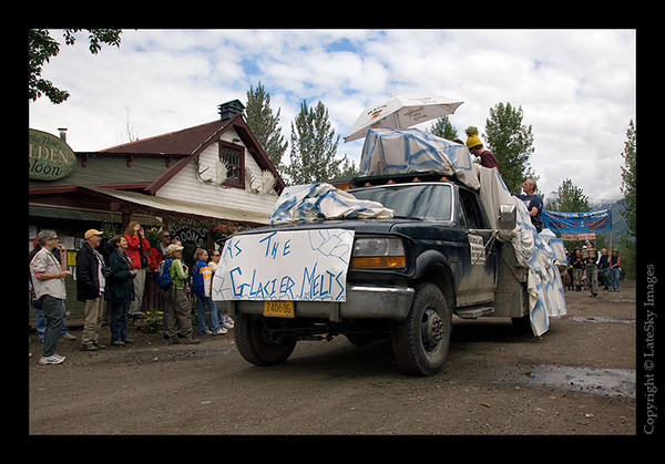 """605 - The parade """"floats"""" begin with the entry from McCarthy Lodge entitled """"As the Glacier Melts"""", the self-proclaimed McCarthy-version Soap Opera."""