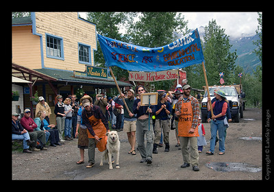 "608 - Participants from the Wrangell Mountain Center, a non-profit education, science and arts center located in the ""ye old"" McCarthy Hardware store."