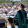 President Sara Jayne Steen speaks to graduates at the 2008 Undergraduate Commencement.  Photo by John Hession.