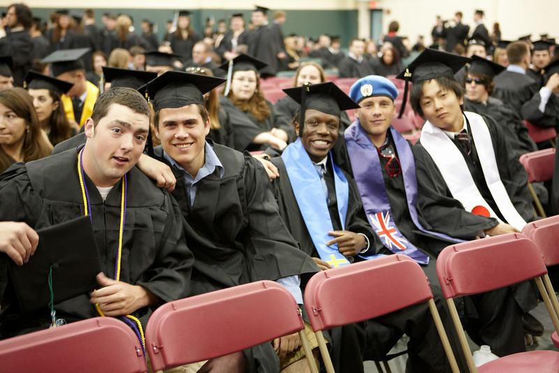 Graduates prepare for the 2008 Undergraduate Commencement Ceremony. 2008 Undergraduate Commencement.  Photo by John Hession.