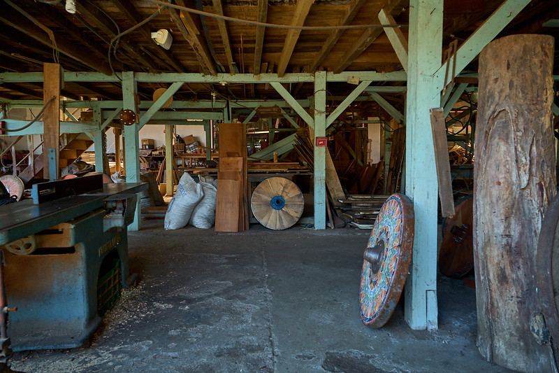 The ox cart workshop in Sarchi