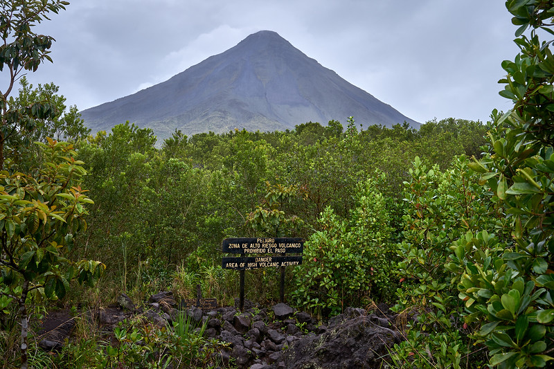 View of Arenal Volcano from the Sendero Las Coladas Trail