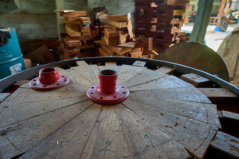 The infamous ox cart wheels of Sarchi in production