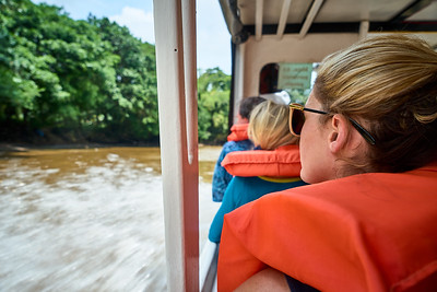 Boat ride to Mawamba Lodge in Tortuguero National Park