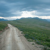 A lonely road on the Deosai plateau