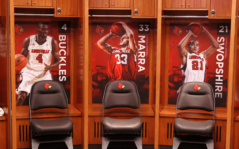 Men's Basketball locker room, KFC Yum! Center