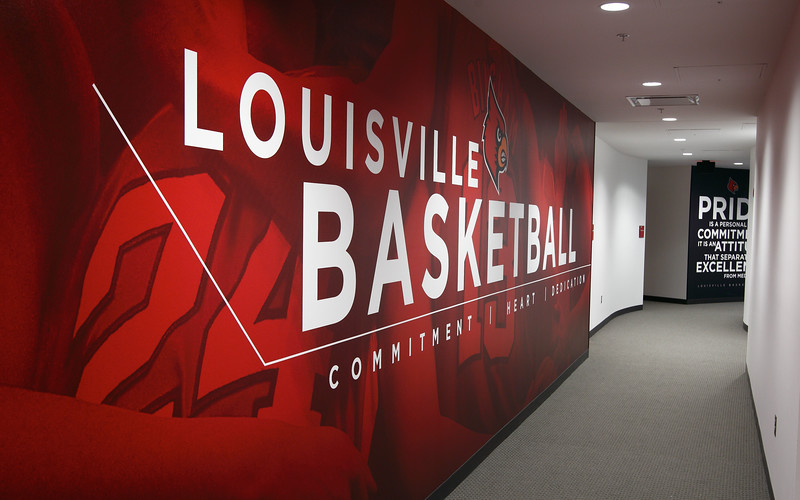 Women's Basketball hallway mural, KFC Yum! Center