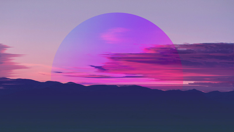 Mountain sky wind abstraction with gradient
