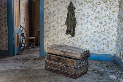 Empty rooms in the Miller Boarding House.