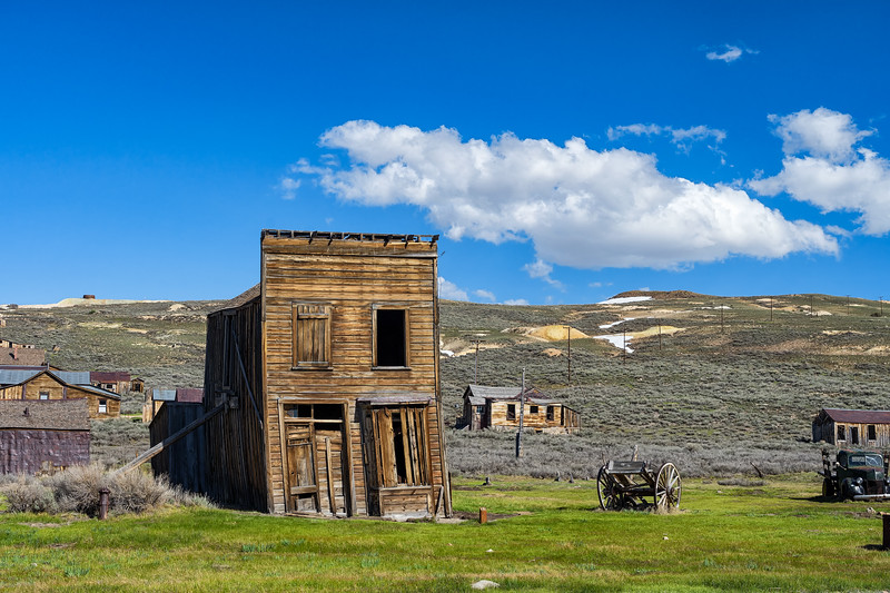 Remains of the Swasey Hotel in Bodie, California