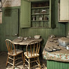The Miller House kitchen, much like it appeared when it was abandoned in 1900.