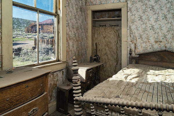 Inside the Miller House in Bodie, as it appeared in 1900.  This is one of the few houses open to the public.