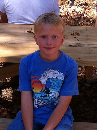 Mitchell at Fall Cub Scout Camping