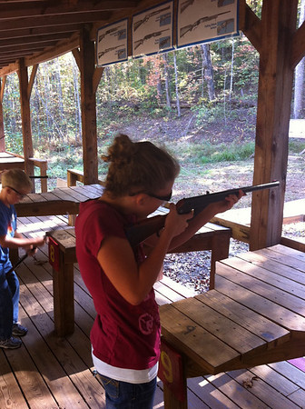 Emily at Rifle Range Scout Camping