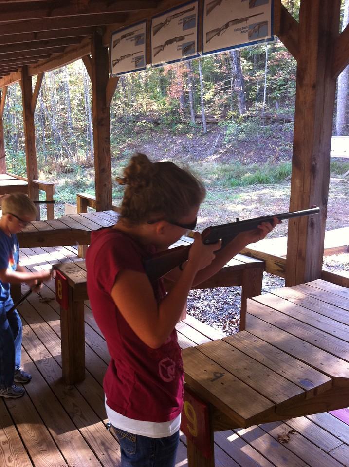 Emily at Rifle Range Scout Camping