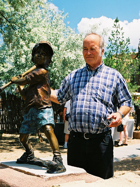 Dick coaches a friend in Sante Fe,NM (June 2002)