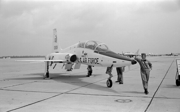 "T-38 Talon (trainer) or F-5 ""Freedom Fighter"" - This image may actually be from EGLIN AFB, Florida in 1970."