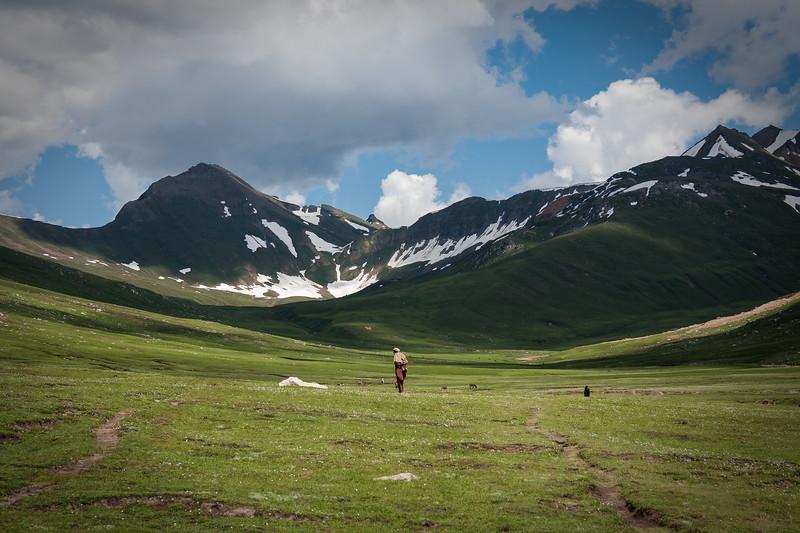 A shepherd near Dudipatsar, Kaghan