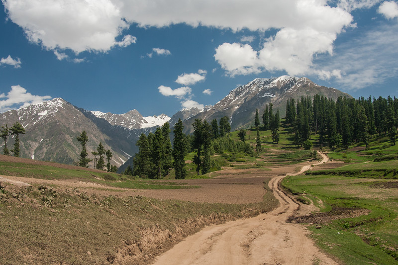 The Lalazar Meadow jeep track