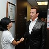 Governor Arnold Schwarzenegger visits the Yes on Prop 11 Dial for Democracy Phonebank in Los Angeles : 1 gallery with 206 photos