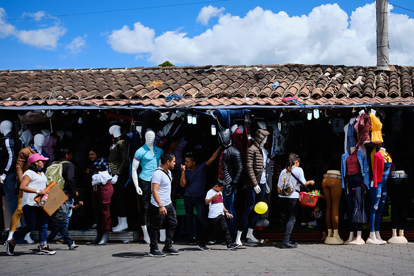 The Terminal de Buses market in Antigua Guatemala
