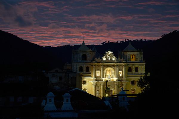 Early morning at Iglesia de la Merced in Antigua Guatemala