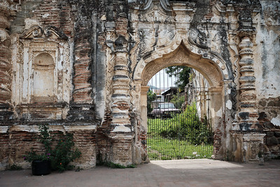 The ruins of Iglesia de la Candelaria in Antigua Guatemala