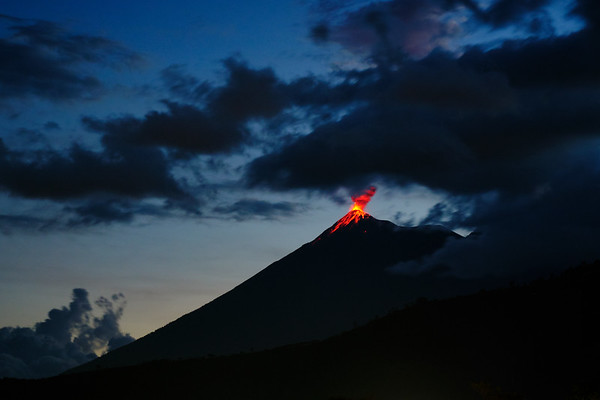 Volcán de Fuego is in a constant state of eruption