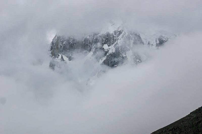 Hunza peak, through the clouds