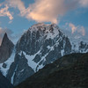Lady Finger and Hunza Peak at sunset