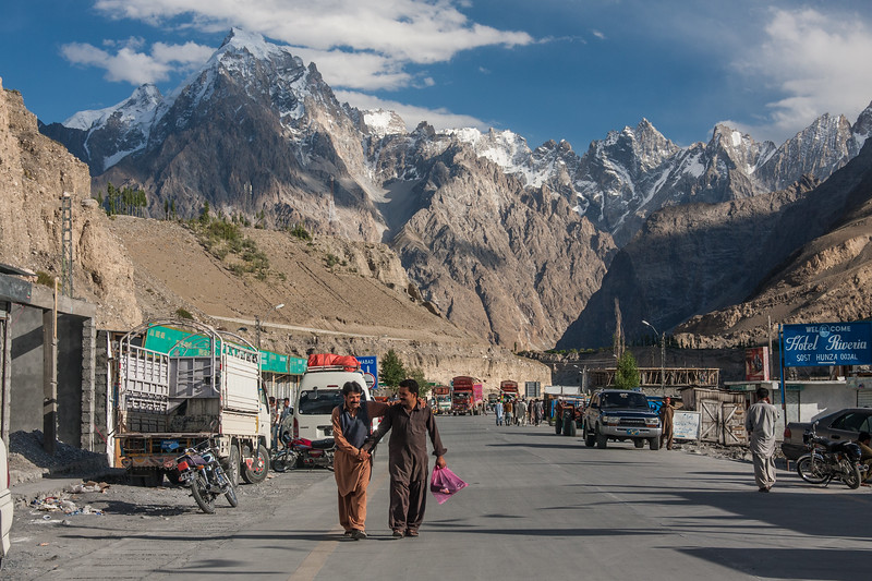 The Passu Cathedrals rise above Sost, the last town on the way to the Chinese border