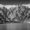Passu Cathedrals rising above Attabad Lake near Gulmit
